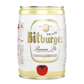 Pasteurized malt beer Bitburger Premium сфт 4.8%alc 5000ml Germany - buy, prices for CityMarket - photo 1