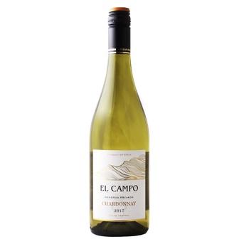 Вино El Campo Chardonnay біле сухе 13% 0,75л - купити, ціни на CітіМаркет - фото 1