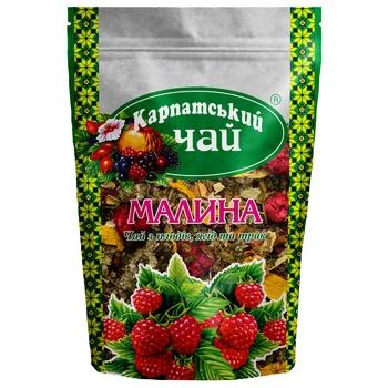 Tea Karpatsky chai fruit raspberry loose 100g sachet - buy, prices for MegaMarket - image 1
