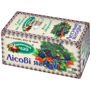 Чай Карпатский Лесная ягода травяной 2г х 20шт - купить, цены на ЕКО Маркет - фото 1