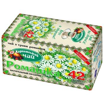 Чай трав'яний Карпатський чай ромашка в пакетиках 42х1г - купити, ціни на Метро - фото 1
