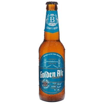 Пиво ТМ Волынский Бровар Golden Ale светлое нефильтрованное 5% 0,35л - купить, цены на СитиМаркет - фото 1