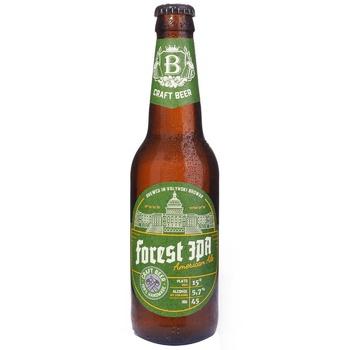 Пиво ТМ Волинський Бровар Forest IPA світле нефільтроване 5,7% 0,35л - купити, ціни на CітіМаркет - фото 1