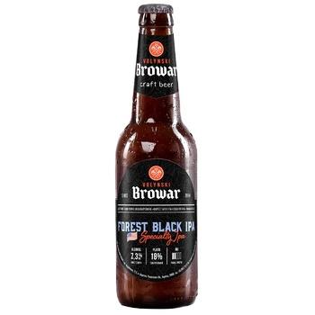 Пиво ТМ Волинський Бровар Forest Black IPA темне нефільтроване 7,3% 0,35л - купити, ціни на Novus - фото 1