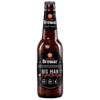 Пиво ТМ Волынский Бровар Big Man English Barleywine тёмное нефильтрованное 8,5% 0,35л - купить, цены на СитиМаркет - фото 1