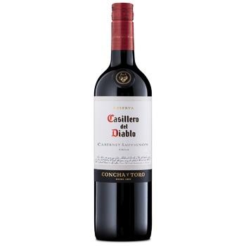 Вино Casillero del Diablo Каберне-Совиньон красное сухое 13,5% 0,75л
