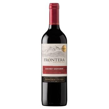 Вино Frontera Каберне Совиньон красное полусухое 12,5% 0,75л - купить, цены на Таврия В - фото 1