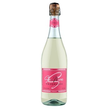 Вино игристое San Mare Fragolino белое сладкое со вкусом клубники 7,5% 0,75л - купить, цены на Фуршет - фото 1