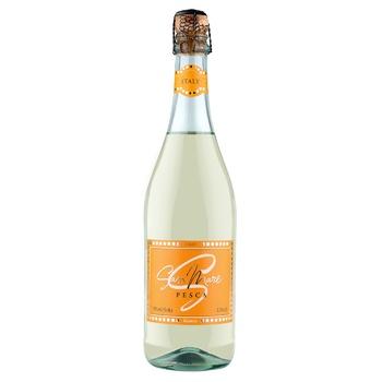 Вино игристое San Mare Pesca белое сладкое со вкусом персика 7,5% 0,75л