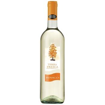 Вино Terra Fresca Bianco белое полусладкое 10,5% 0,75л - купить, цены на ЕКО Маркет - фото 1