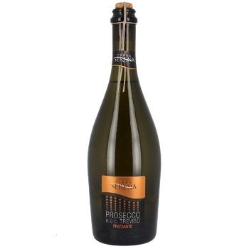 Вино игристое Terra Serena Prosecco Frizzante Dry Treviso DOC белое сухое 11% 0,75л - купить, цены на Novus - фото 1