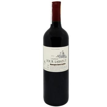 Chateau Tour Labatut 2012 Red Dry Wine 13,5% 0,75l - buy, prices for CityMarket - photo 1
