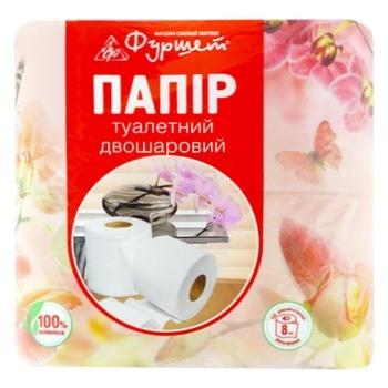 Toilet Paper Buffet 2-layer white 8pcs - buy, prices for Furshet - image 1