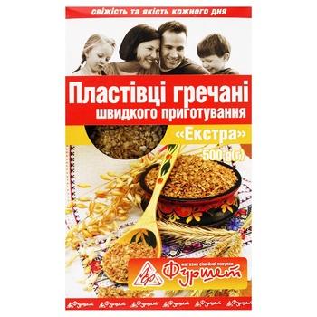 Flakes Furshet buckwheat ready-to-cook 500g packaged Ukraine - buy, prices for Furshet - image 1