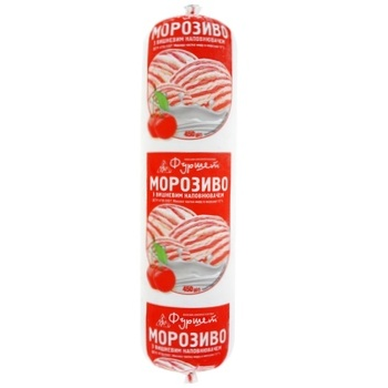 Мороженое Фуршет Вишня 12% 450г - купить, цены на Фуршет - фото 1