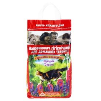 Наповнювач для туалета Фуршет середній аромат лаванди 5кг - купити, ціни на Фуршет - фото 1