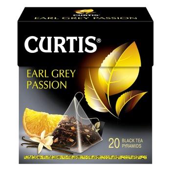 Чай черный Curtis Earl Grey Passion в пирамидках 20шт*1,7г - купить, цены на Novus - фото 1