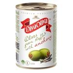Оливки Diva Oliva зелені з анчоусом 300г