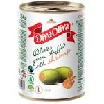 Оливки Diva Oliva зеленые с креветкой 300г
