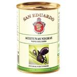 San Eduardo Whole Black Olives 425g