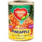 Ананас шматочками Tropic Life у власному соку 580мл - купити, ціни на Фуршет - фото 1