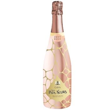 Вино игристое Pata Negra Cava Brut Rose розовое сухое 11,5% 0,75л