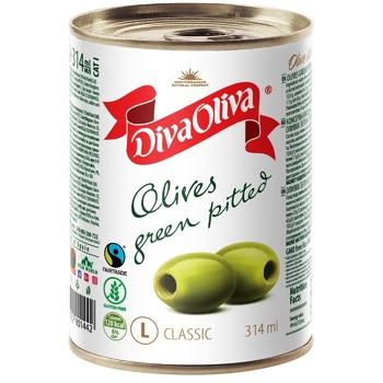 Оливки Diva Oliva зелені без кісточки 300г - купити, ціни на Восторг - фото 2