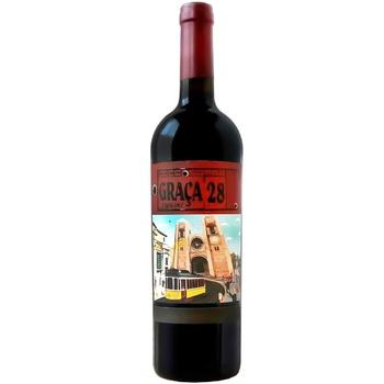 Вино Graça 28 красное сухое 14,5% 0,75л - купить, цены на Ашан - фото 1