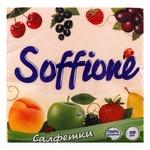 Салфетки бумажные Soffione однослойные персиковые 33х33см 100шт