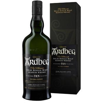 Виски Ardbeg 10 лет 46% 0.7л - купить, цены на Ашан - фото 1