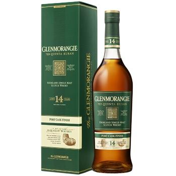 Віскі Glenmorangie The Quinta Ruban 14 років 46% 0.7л картонна упаковка - купити, ціни на МегаМаркет - фото 1
