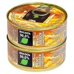 М'ясо лосося Здорово в оливковій олії  з/б 2шт 100г