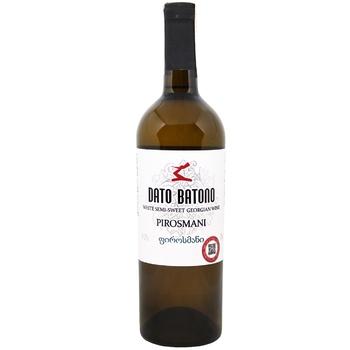 Dato Batono Pirosmani White Semi Sweet Wine 11-12% 0,75l - buy, prices for EKO Market - photo 1