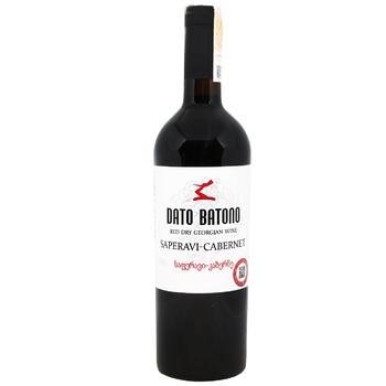 Вино Dato Batono Сапераві Каберне червоне сухе 11-12% 0,75л - купити, ціни на ЕКО Маркет - фото 1
