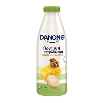 Йогурт Danone банан-мед-орехи 1,5% 800г - купить, цены на Ашан - фото 1