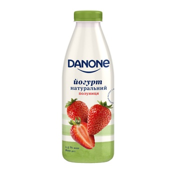 Йогурт Danone клубника 1,5% 800г