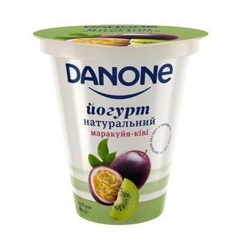 Danone Passion Fruit-Kiwi Flavored Yogurt 260g - buy, prices for CityMarket - photo 1