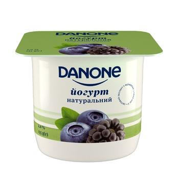 Йогурт Danone черника-ежевика 2% 135г