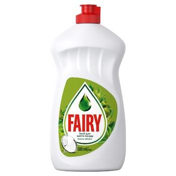 Засіб для миття посуду Fairy Зелене яблуко 500мл - купити, ціни на Фуршет - фото 1