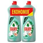 Средство для мытья посуду Fairy Нежные руки Чайное дерево и мята 2x1л