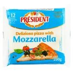 Плавленый сыр Президент Моцарелла для пиццы 40% 200г