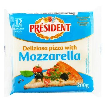 Плавлений сир Президент Моцарела для піци 40% 200г
