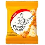 Арахис Казацкая слава жареный соленый в хрустящей оболочке со вкусом сыра 30г