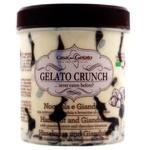 Мороженое Casa del Gelato ванильное с фундуком, соусом джандуйя и шоколадным пирожным 400г