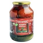 Огiрки+томати Чигирин Асортi Домашнє 1.5л
