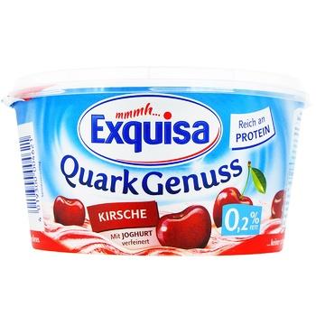 Десерт творожный Exquisa вишневый 0,2% 500г - купить, цены на Фуршет - фото 1