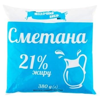 Сметана Молочний вибір 21% 380г - купити, ціни на Фуршет - фото 1