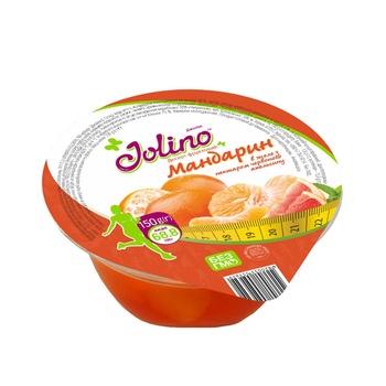 Десерт фруктовий Чигринов Jolino мандарин в желе з нектаром червоного апельсину 150г - купить, цены на Ашан - фото 1