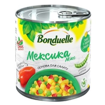 Овощная смесь Bonduelle Мексика Микс ж/б 425 мл - купить, цены на Метро - фото 1
