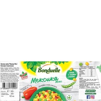 Овощная смесь Bonduelle Мексика Микс ж/б 425 мл - купить, цены на Метро - фото 2
